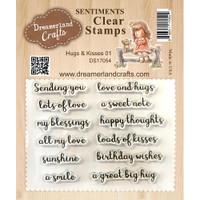 Dreamerland Crafts Clear Stamp Set 3X4 - Hugs & Kisses 01