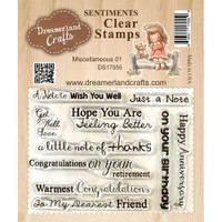 Dreamerland Crafts Clear Stamp Set 3X4 - Miscellaneous 01
