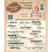 Dreamerland Crafts Clear Stamp Set 3X4 - Sympathy 01
