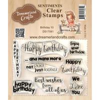 Dreamerland Crafts Clear Stamp Set 3X4 - Birthday 10