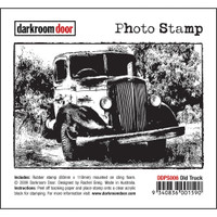 Darkroom Door Cling Stamp, Photo Stamp: Old Truck