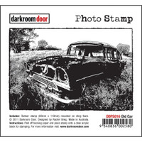 Darkroom Door Cling Stamp, Photo Stamp: Old Car