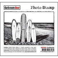 Darkroom Door Cling Stamp, Photo Stamp: Surfboards