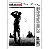 Darkroom Door Cling Stamp, Photo Stamp: Golfer