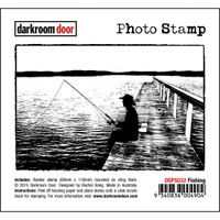 Darkroom Door Cling Stamp, Photo Stamp: Fishing