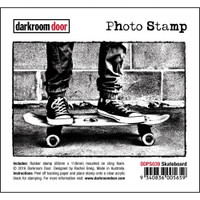 Darkroom Door Cling Stamp, Photo Stamp: Skateboard