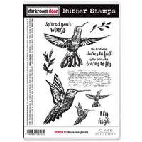 Darkroom Door Cling Stamp, Rubber Stamp: Hummingbirds