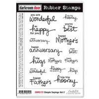 Darkroom Door Cling Stamp, Rubber Stamp: Simply Sayings Vol. 2