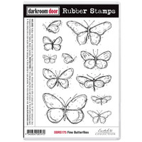 Darkroom Door Cling Stamp, Rubber Stamp: Fine Butterflies