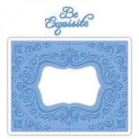 Sizzix Impresslits Embossing Folder by Courtney Chilson - Aquarius Frame