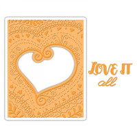 Sizzix Impresslits Embossing Folder by Courtney Chilson - Bohemian Heart