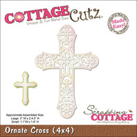 CottageCutz Die - Ornate Cross Made Easy