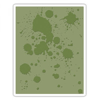 Sizzix Texture Fades Embossing Folder - Ink Splats