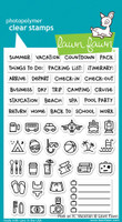 Lawn Fawn Clear Stamps - Plan On It: Vacation