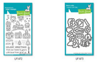 Lawn Fawn Clear Stamps and Dies Bundle - Winter Village