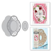 Spellbinders Shapeabilities Chantilly Paper Lace By Becca Feeken - Hannah Elise Layering Frame Small