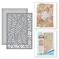 Spellbinders Card Creator Card Front Etched Dies Tropical Paradise By Lene Lok - Banana Leaf