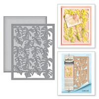 Spellbinders Card Creator Card Front Etched Dies Tropical Paradise By Lene Lok - Monstera Leaf