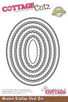 CottageCutz Nested Dies 5/Pkg - Scallop Oval
