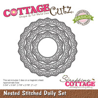 CottageCutz Nested Dies 3/Pkg - Stitched Doily