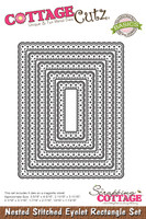 CottageCutz Nested Dies 5/Pkg - Stitched Eyelet Rectangle