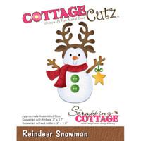 CottageCutz Dies - Reindeer Snowman