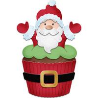 CottageCutz Dies - Santa Cupcake