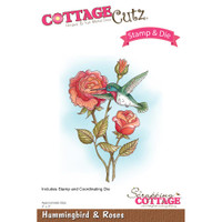 CottageCutz Stamp & Die Set - Hummingbird & Roses