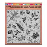 Stampendous Décor Background Cling Stamps - Décor Leaves