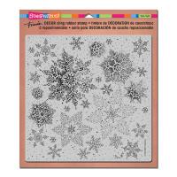 Stampendous Décor Background Cling Stamps - Décor Snowflake