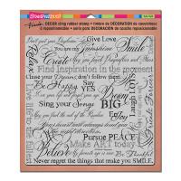 Stampendous Décor Background Cling Stamps - Décor Dream