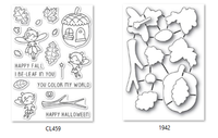 Memory Box Poppystamps Clear Stamps and Dies Set - Autumn Fairies