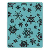Sizzix Texture Fades Embossing Folder by Tim Holtz - Simple Snowflakes