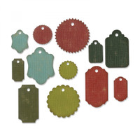 Sizzix Thinlits Die Set 12PK by Tim Holtz - Gift Tags