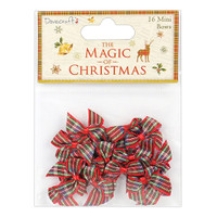 TrimCraft DoveCraft The Magic Of Christmas Mini Bows - Tartan