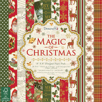 "TrimCraft DoveCraft Paper Pack 8""X8"" 36/Pkg - The Magic Of Christmas"