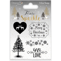 TrimCraft DoveCraft Time To Sparkle Clear Stamps - Merry Christmas
