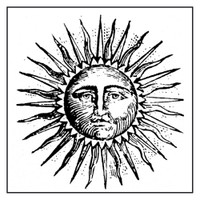 Stamperia High Definition Rubber Stamp -  Sun