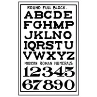 Stamperia High Definition Rubber Stamp -  Alphabets & Numbers