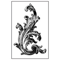 Stamperia High Definition Rubber Stamp -  Victorian Volute