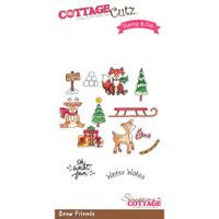 CottageCutz Stamp & Die Set - Snow Friends