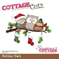 Cottagecutz Die Set -  Holiday Owls