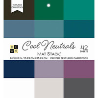 "DCWV Single-Sided Cardstock Stack 6""X6"" 42/Pkg - Cool Neutrals Solid"