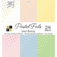 "DCWV Double-Sided Cardstock Stack 6""X6"" 24/Pkg - Pastel Foils"