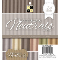 "DCWV Single-Sided Cardstock Stack 6""X6"" 24/Pkg - Corrugate Neutrals"