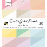 "DCWV Double-Sided Cardstock Stack 6""X6"" 42/Pkg - Flip/Slide Pastels Solid"