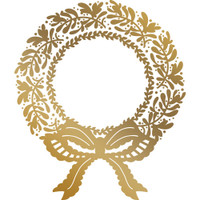 Couture Creations Anna Griffin Hotfoil Plate - Christmas Wreath