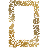 Couture Creations Anna Griffin Hotfoil Plate - Framed Holly
