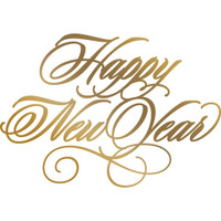 Couture Creations Anna Griffin Hotfoil Plate - Happy New Year