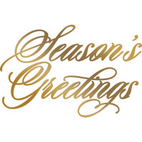 Couture Creations Anna Griffin Hotfoil Plate - Season's Greetings